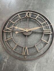Howard Miller York Station Wall Clock 625-299 – Modern with Quartz Movement EUC
