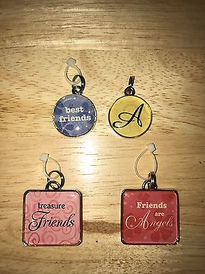 4 HALLMARK CHARMS FOR A CHARM BRACELET OR NECKLACE - Charms For A Charm Bracelet