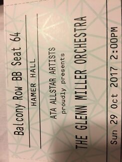Two Tickets for The Glen Miller Orchestra