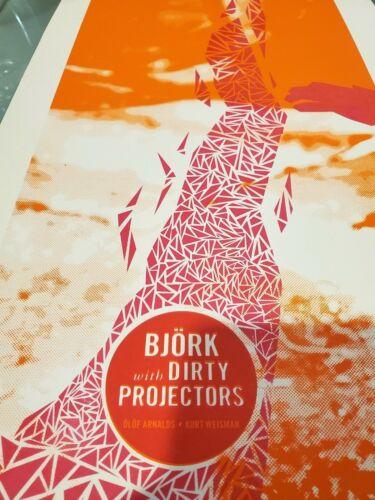 Bjork/Dirty Projectors Housing Works Concert Poster + Shoplifter Show Postcard