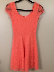 H&M Coral Skater Style Dress