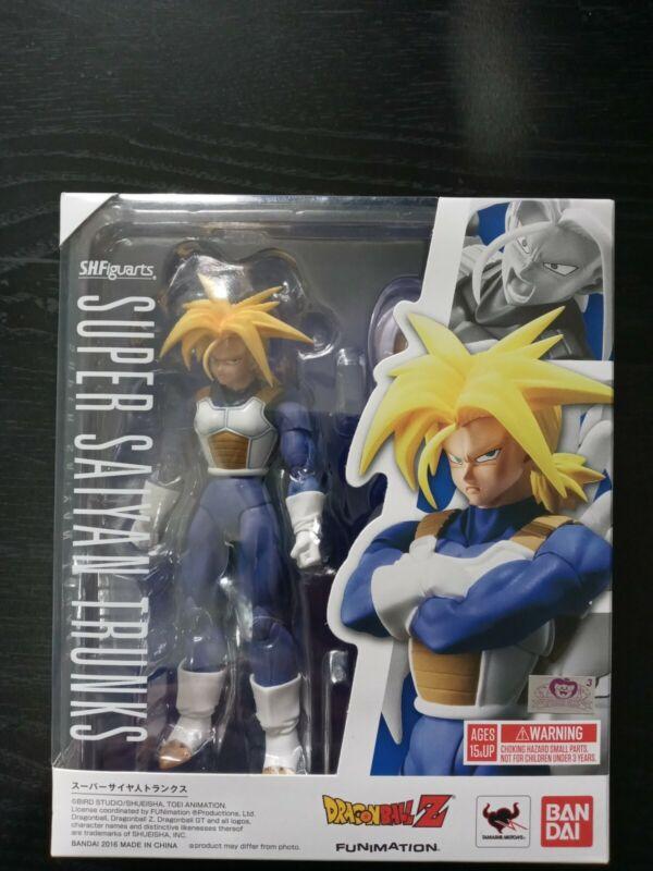 Bandai S.H Figuarts Dragon Ball Z Super Saiyan Trunks Figure Brand New Open Box