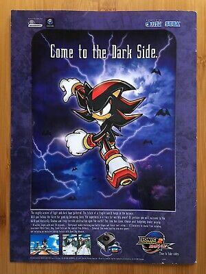 Sonic Adventure 2 Battle Gamecube 2001 Vintage Print Ad/Poster Official UK Art!
