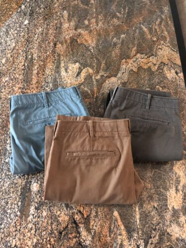 Lot Of 3 Pairs Of Gap Lived In Skinny Slim Casual Colored Khakis 36 X 32 - $9.75