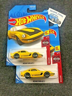2019 Hot Wheels - Lot of 2 - Nissan Fairlady Z - Yellow C63
