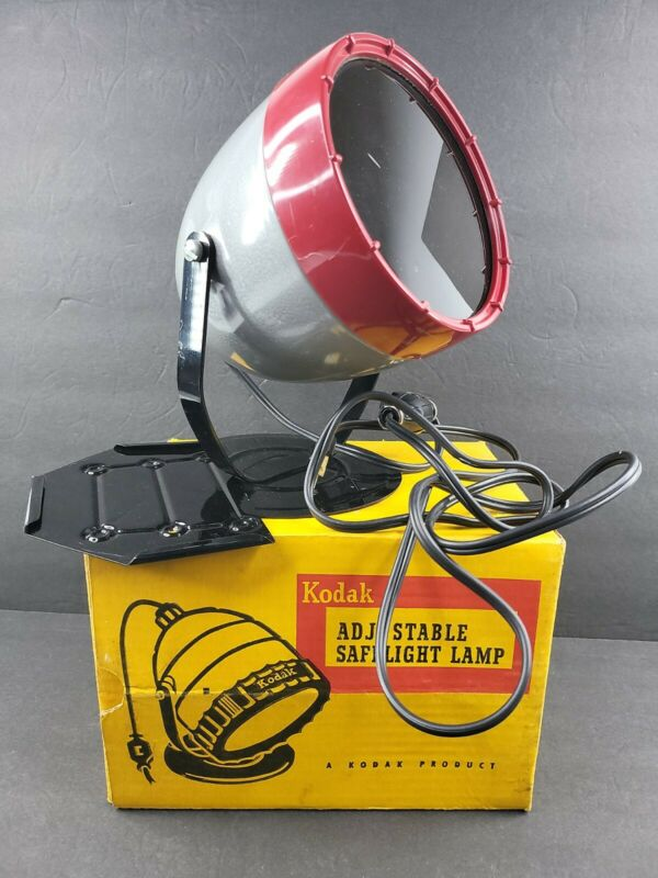 Kodak Adjustable Safelight Lamp Model A Vintage Darkroom Light Box Rochester NY
