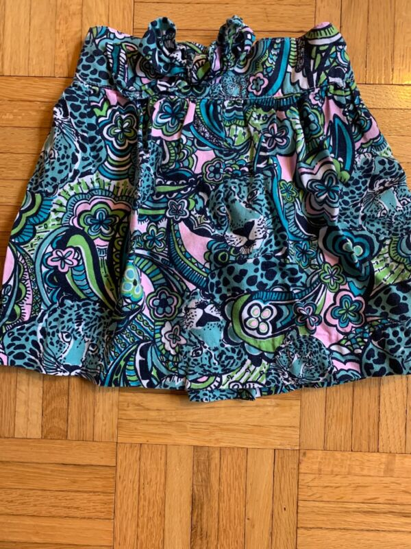 Lilly Pulitzer Toddler Girl Size 2 Skirt Blue Print Guc