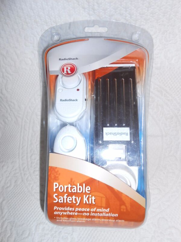 RadioShack Portable Safety Kit Alarms Doorstop Keychain NEW IN PACKAGE