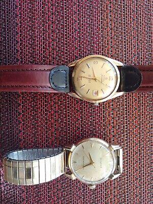 2 vintage automatic watches, Bulova, Titona