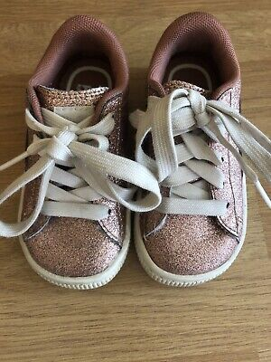 Pink Sparkle Puma Girls Infant Size 5 Trainers
