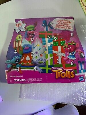 DreamWorks Trolls Holiday Countdown Advent Calendar 12 Days of Toys NEW