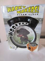 Mark Feldstein Wacky Wakers Black Lab Alarm Clock NEW # 1523 u