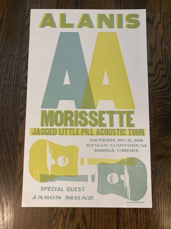 Alanis Morissette Hatch Show Print Poster Ryman Auditorium Nashville