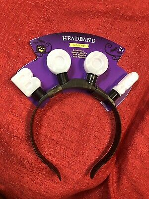 BOO! Halloween Light Up Headband - 3 Function - Dress Up Costume Party