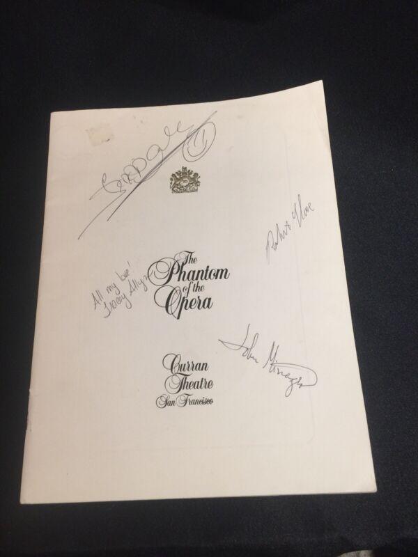 Phantom of the Opera Cast Signed Curran Theatre San Francisco Souvenir Brochure