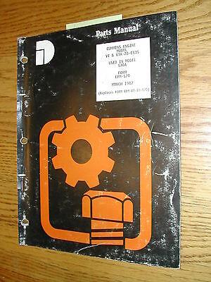 International Dresser Vt Vta-28 Cummins Parts Catalog Manual Book 570a Loader