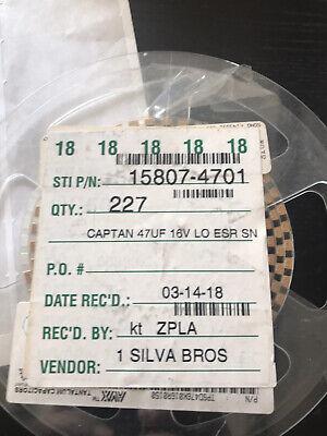 Tantalum Capacitor 47uf 16v Smd 30pcsavx