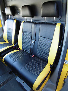 VW-Transporter-furgoneta-T6-2016-FUNDAS-DE-ASIENTO-Bentley-Diamond-Amarillo