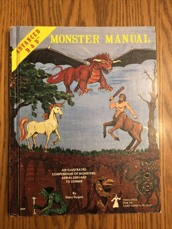 MONSTER MANUAL 1980 5th print 1st Edition Dungeons & Dragons EXC!