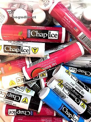 Lot of  24, OraLabs Chap-Ice Premium Lip Balm Assorted Flavors 0.15 oz stick
