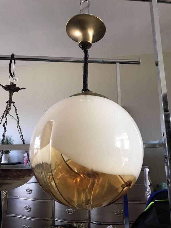 Vintage Murano mazzega Globe Chandelier Large