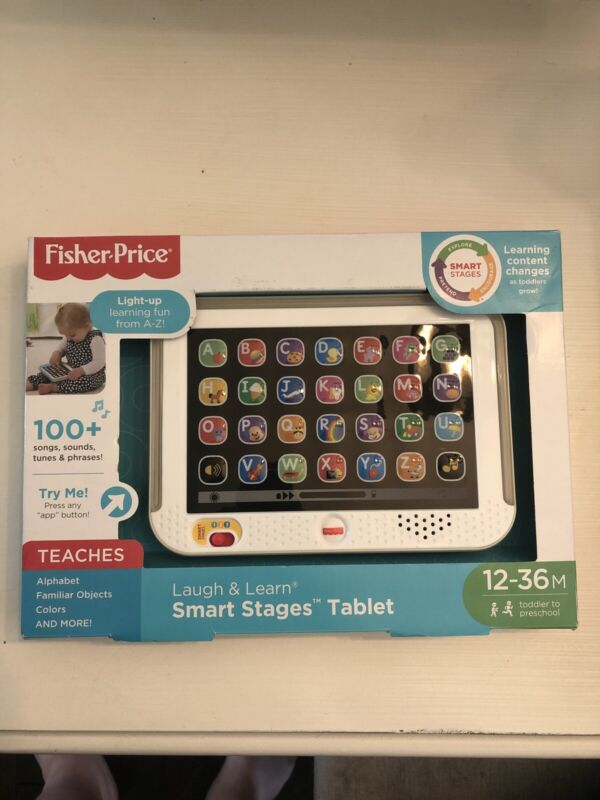 Fisher Price Laugh & Learn Smart Stages Tablet - Gold Children's Learning Toy