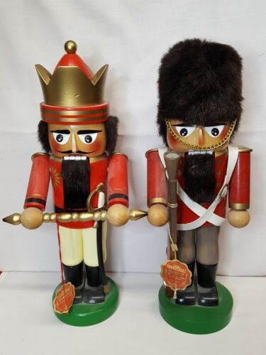 "2 Vintage Steinbach Nutcrackers~14 1/8""H German King & 13 1/2""H King"