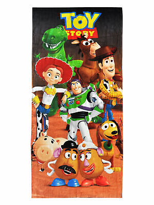 Toy Story Beach Towel 58x28 Woody Jessie Buzz Lightyear Kids Buzz Lightyear Towel