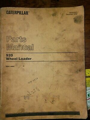 920 Parts Manual Wheel Loader Caterpillar 62k1-4605