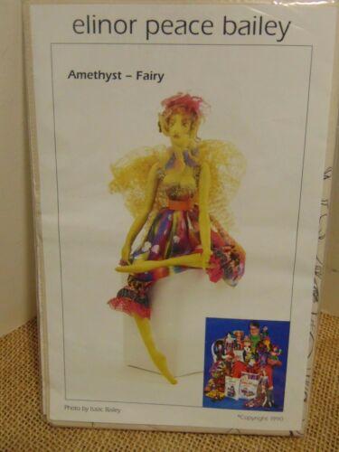 "Elinor Peace Bailey ""Fairy Amethyst"" Doll Pattern UNCUT Vtg 1990"