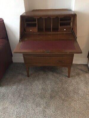 Vintage 3 Drawer Writing Desk Bureau Wood Varnished