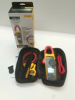 New Fluke Connect 376 Fc 1000a 1000v Truerms Acdc Clamp Amp Meter Iflex Probe