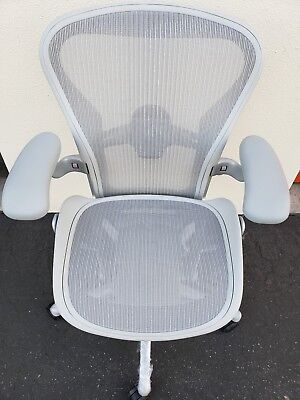 New Herman Miller Aeron Remastered Chair Mineral White Fully Adjustable Wtags