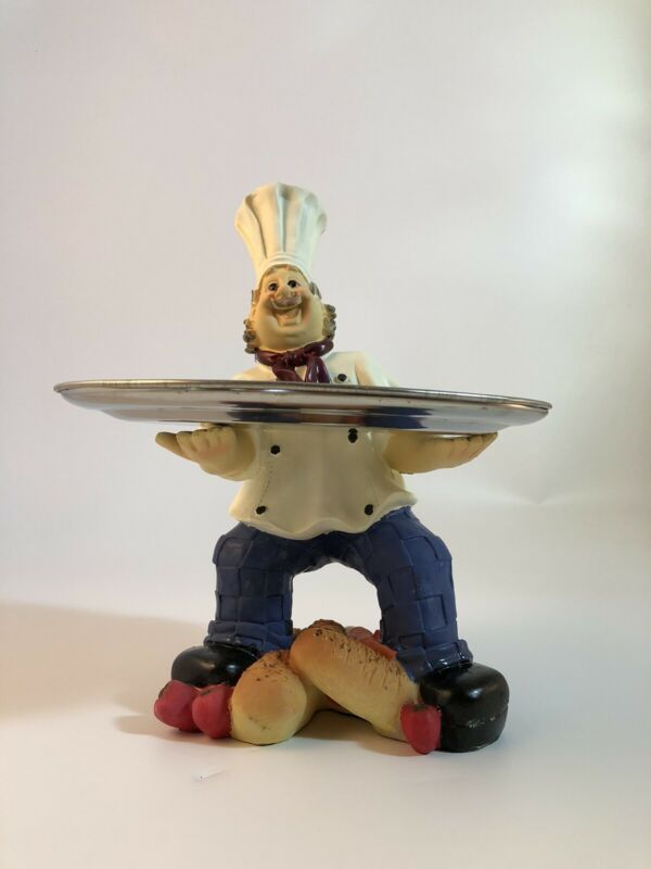 Chef, Tray Holder, Sculpture, Home and Kitchen Decor, Kitchen Ware,