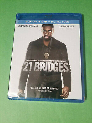 NEW - 21 Bridges (Blu-ray + DVD 2019 + Digital) Chadwick Boseman - Free ShipN!
