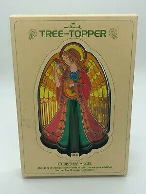 Vintage Hallmark Cards Translucent Multi Colored Christmas Angel Tree Topper