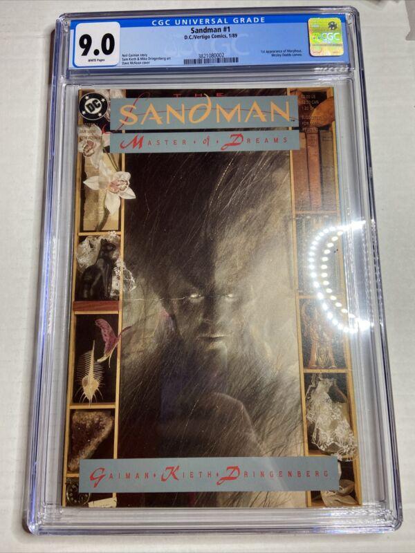 SANDMAN #1 CGC 9.0 WH 1ST APPEARANCE DEATH NEIL GAIMAN Just Graded!