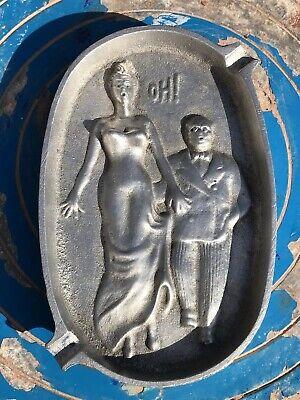 Vintage Saucy Rude Ashtray - Hand On Ladies Bottom - Cast Metal 1950's Seaside