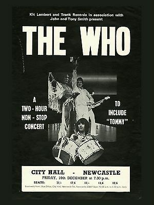 """The Who Newcastle 16"""" x 12"""" Photo Repro Concert Poster"""