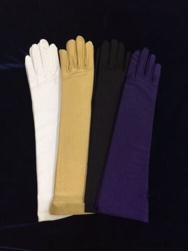"15"" Matte Glove Stretch With Spandex. Bridal Wedding. Prom.Halloween."