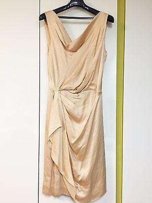 J.Mendel NWT $2400 Drape Apricot Color Sleeveless Dress Size 4 Cocktail Luxury