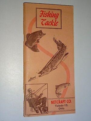Netcraft Fishing Catalog - 1958 NETCRAFT Co FISHING TACKLE Advertising CATALOG # 58