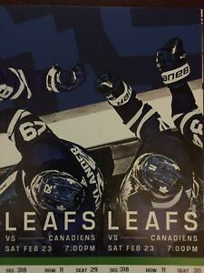 Toronto Maple Leafs vs. Montreal Canadiens-Sat. Feb. 23