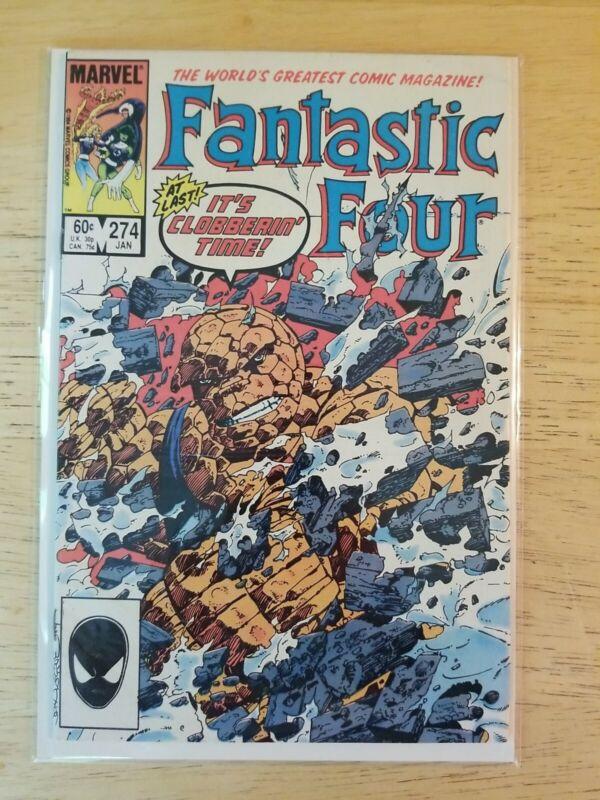 Fantastic Four #274 Comic Book 1984 Marvel Key Issue John Byrne Clobberin