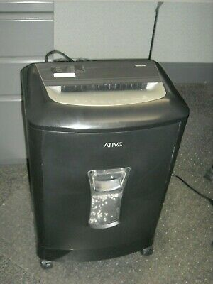 Ativa 16mc06 16 Sheet Micro-cut Paper Shredder Cd Credit Card Shredder Used
