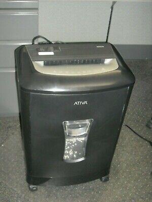 Ativa 16mc06 16 Sheet Micro-cut Paper Shredder Cd Credit Card Shredder Used