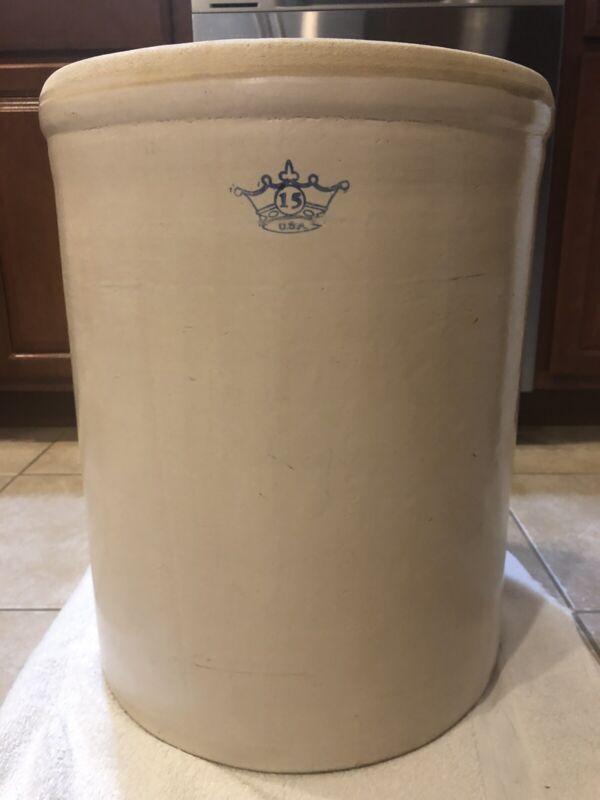 Vintage ROBINSON RANSBOTTOM 15 Gallon Stoneware Pickling Crock, Made in USA