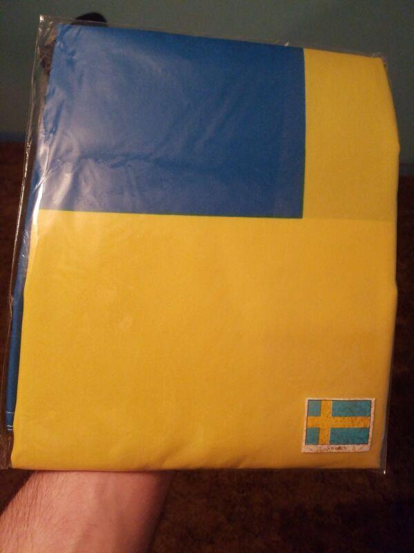 3x5FT Large Sweden Swedish Flag Polyester National Banner With Mental Grommets