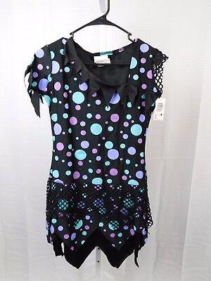 Fun Teen Halloween Costumes (Blue Fun Dot Monster Teen Girl's Halloween Costume Juniors 0-9 Dress Only)
