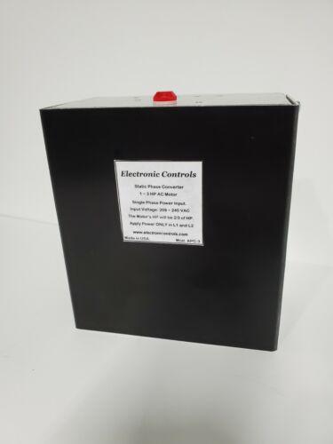 Phase Converter Static, 1-3 HP AC Motor 208-240VAC, Heavy Duty